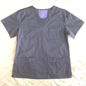 Med Couture Scrub Top Gray Large E-Z Flex